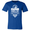 CrossFit Helix - 100 - Strong And Courageous - Bella + Canvas - Men's Short Sleeve Jersey Tee