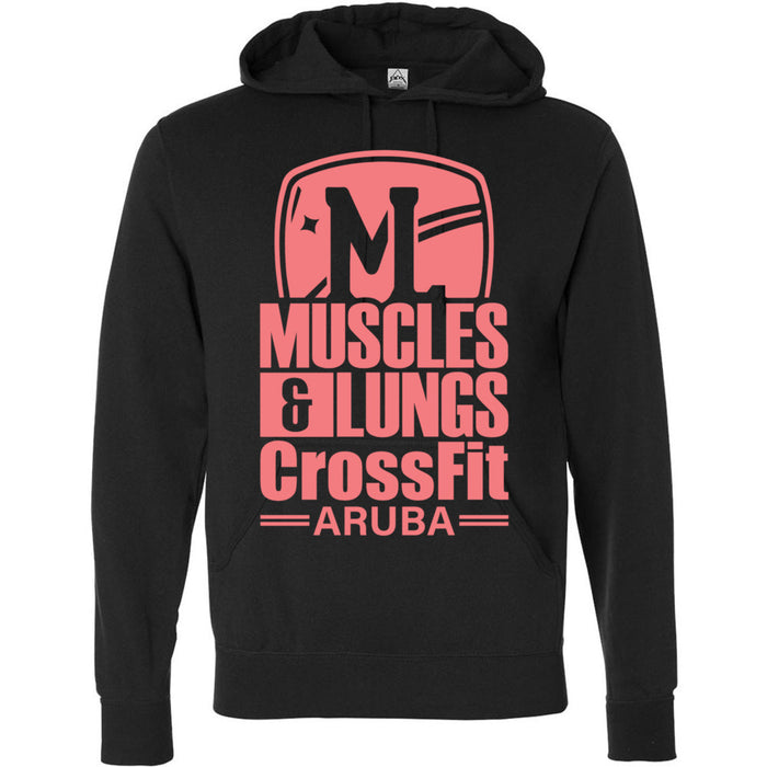 Muscles & Lungs CrossFit - 100 - Peach - Independent - Hooded Pullover Sweatshirt