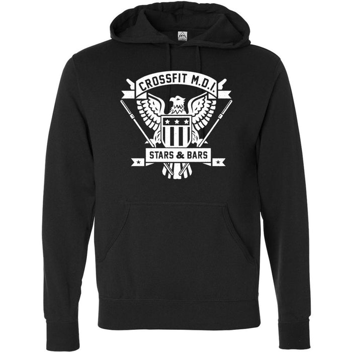 CrossFit MDI - 100 - Stars & Bars - Independent - Hooded Pullover Sweatshirt