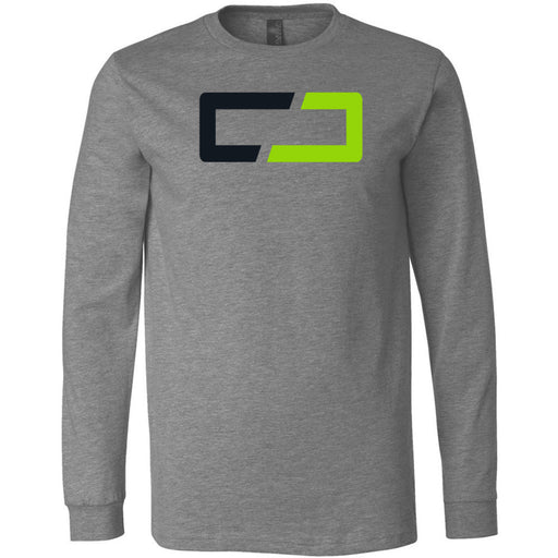 Crusher CrossFit - 202 - Symbol - Bella + Canvas 3501 - Men's Long Sleeve Jersey Tee