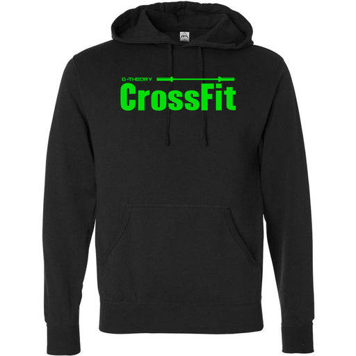 G-Theory CrossFit - 100 - Stacked Green - Independent - Hooded Pullover Sweatshirt