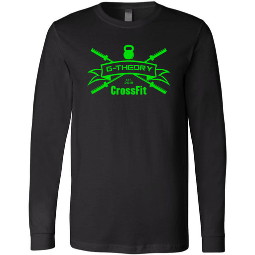G-Theory CrossFit - 100 - Standard Green - Bella + Canvas 3501 - Men's Long Sleeve Jersey Tee
