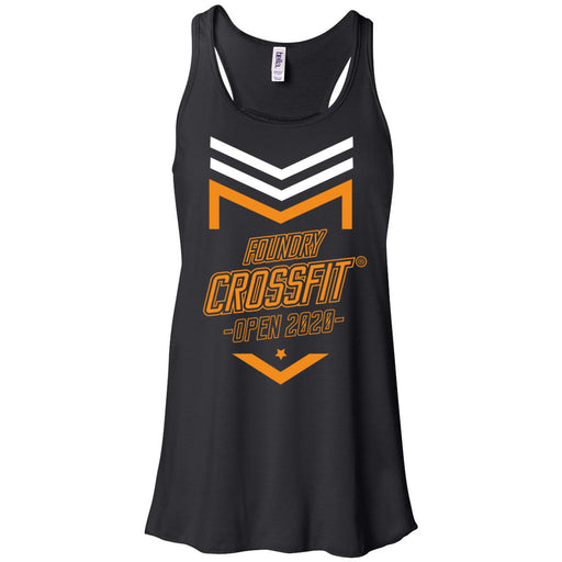 Foundry CrossFit - 100 - 2020 Open Orange - Bella + Canvas - Women's Flowy Racerback Tank