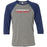 CrossFit Code Red - 100 - Standard - Bella + Canvas - Men's Three-Quarter Sleeve Baseball T-Shirt