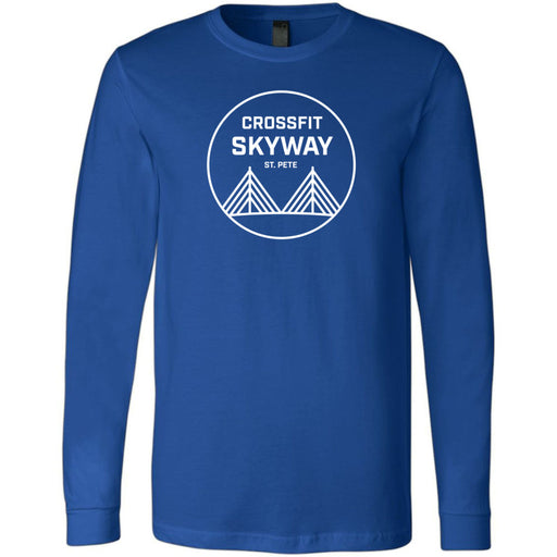 CrossFit Skyway - 100 - Standard - Bella + Canvas 3501 - Men's Long Sleeve Jersey Tee