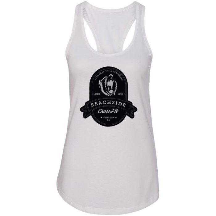 BeachSide CrossFit - 100 - Stronger Than Yesterday - Next Level - Women's Ideal Racerback Tank