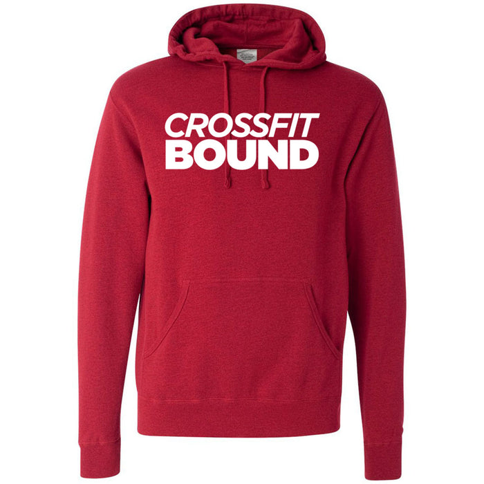 CrossFit Bound - 100 - White - Independent - Hooded Pullover Sweatshirt