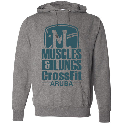 Muscles & Lungs CrossFit - 100 - Teal - Independent - Hooded Pullover Sweatshirt