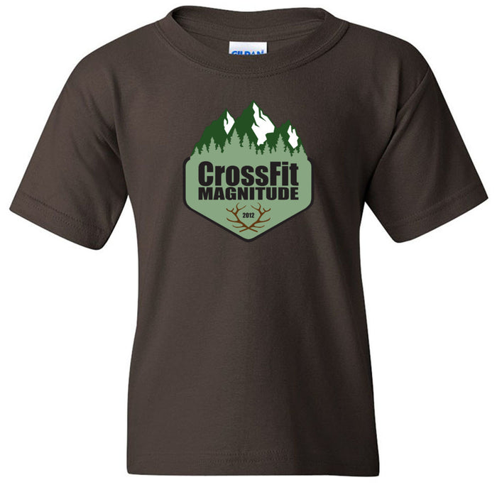 CrossFit Magnitude - 100 - Green - Gildan - Heavy Cotton Youth T-Shirt