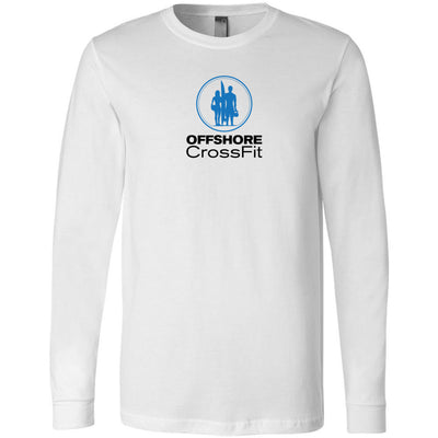 Offshore CrossFit - 202 - Work Over Wish Double Print - Bella + Canvas 3501 - Men's Long Sleeve Jersey Tee