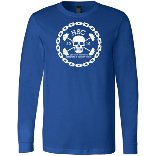 CrossFit HSC - 100 - Skull - Bella + Canvas 3501 - Men's Long Sleeve Jersey Tee
