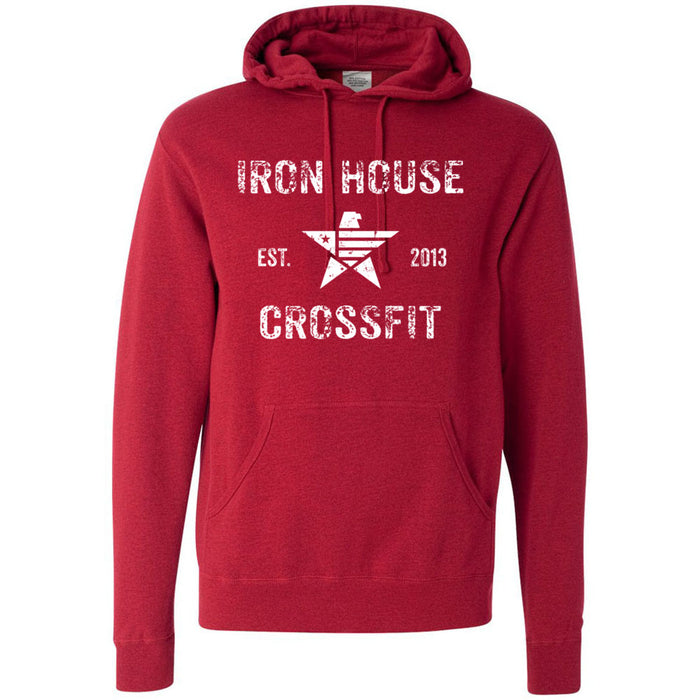 Iron House CrossFit - 100 - Stacked - Independent - Hooded Pullover Sweatshirt