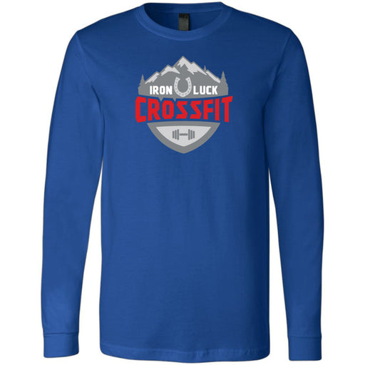 Iron Luck CrossFit - 100 - Standard - Bella + Canvas 3501 - Men's Long Sleeve Jersey Tee
