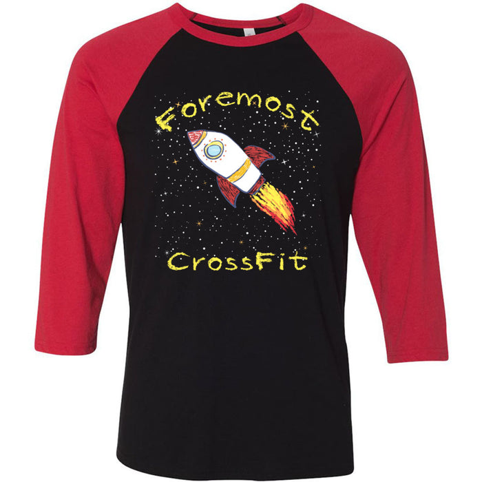 Foremost CrossFit - 202 - Spring - Bella + Canvas - Men's Three-Quarter Sleeve Baseball T-Shirt