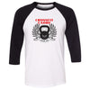CrossFit Cadre - 100 - Standard - Bella + Canvas - Men's Three-Quarter Sleeve Baseball T-Shirt