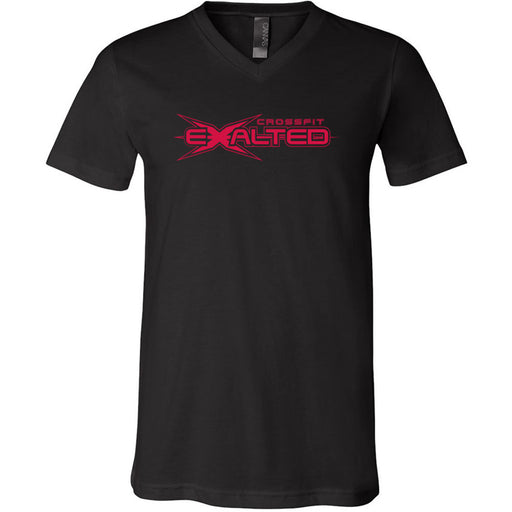 CrossFit Exalted - 100 - Red - Bella + Canvas - Men's Short Sleeve V-Neck Jersey Tee