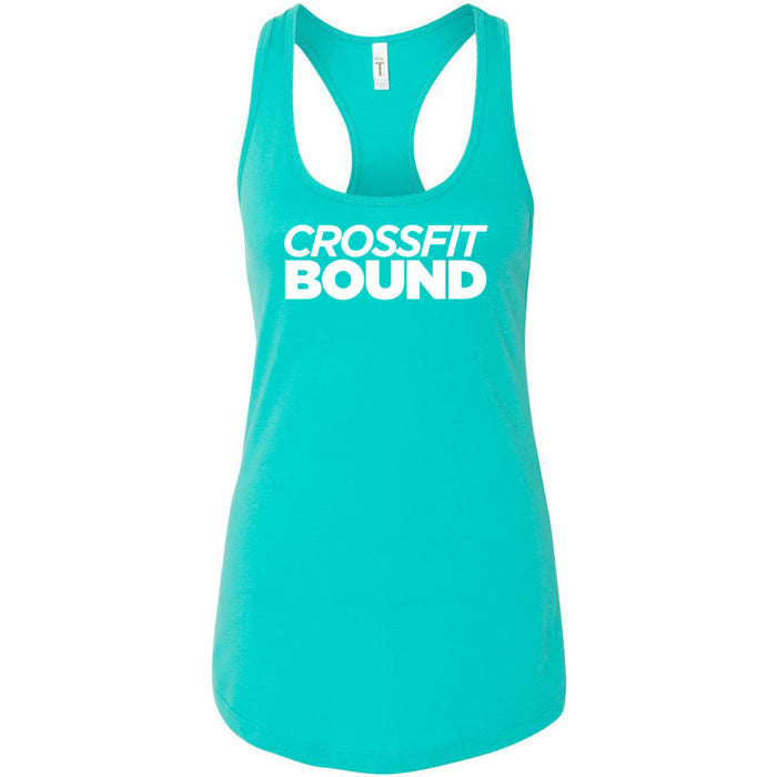 CrossFit Bound - 100 - White - Next Level - Women's Ideal Racerback Tank