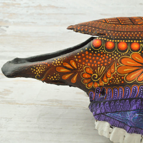 Image of Bull Head Alebrije Oaxacan Wood Carving - Magia Mexica