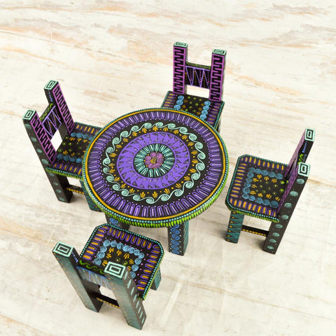 Image of Dinner Table Alebrije Oaxacan Wood Carving