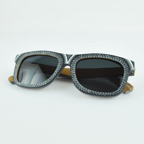 Image of Black Sunglasses - Alebrije Huichol Mexican Folk art magiamexica.com