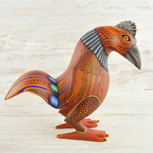 Hen Alebrije Oaxacan Wood Carving - Magia Mexica