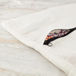 Embroidered Pillow Cover | White 2
