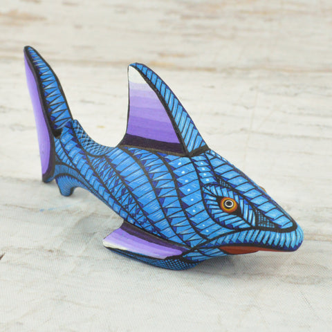 Alebrije Oaxacan Wood Carving Sharks Set - Magia Mexica