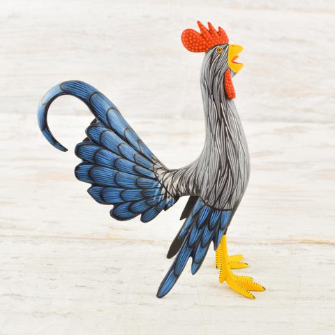 Image of Alebrije Oaxacan Wood Carving Rooster - Magia Mexica