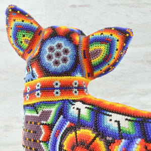Huichol Beaded Animals Chihuahua Dog - Magia Mexica