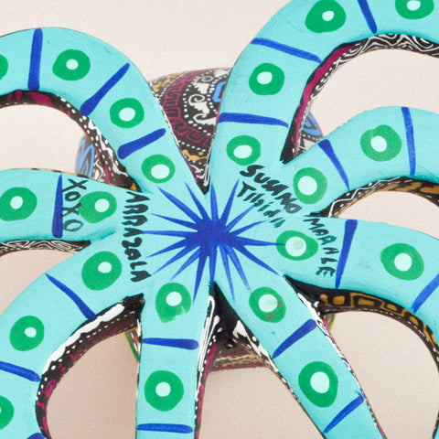 Image of Alebrije Oaxacan Wood Carving Wolf - Magia Mexica