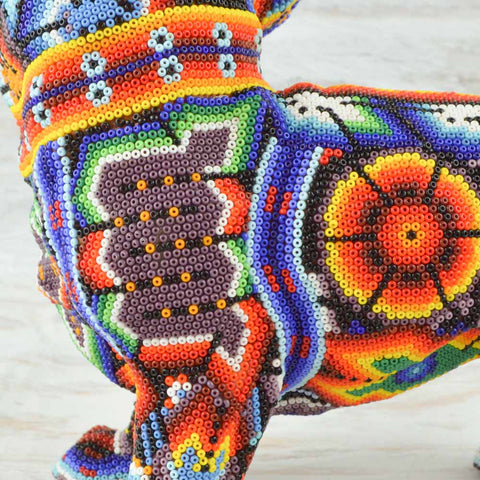 Image of Huichol Beaded Animals Chihuahua Dog - Magia Mexica