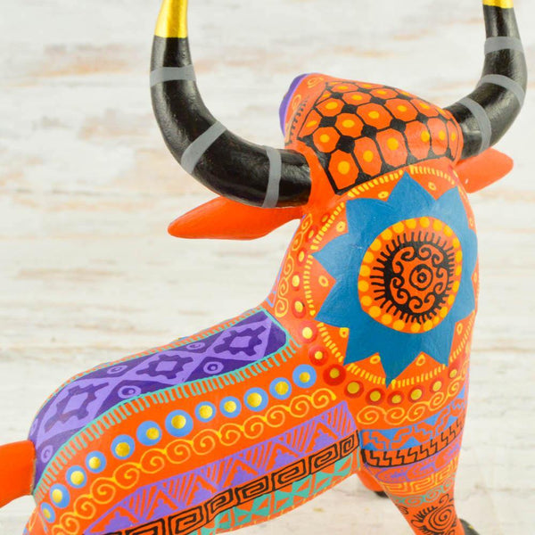 H272 Day of the death skull Huichol - Alebrije Huichol Mexican Folk art magiamexica.com