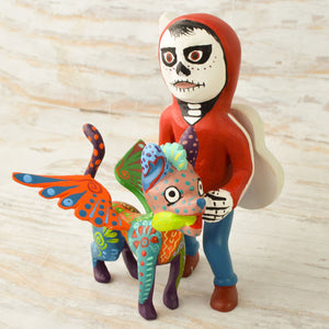 Alebrije Oaxacan Wood Carving Coco Set - Magia Mexica