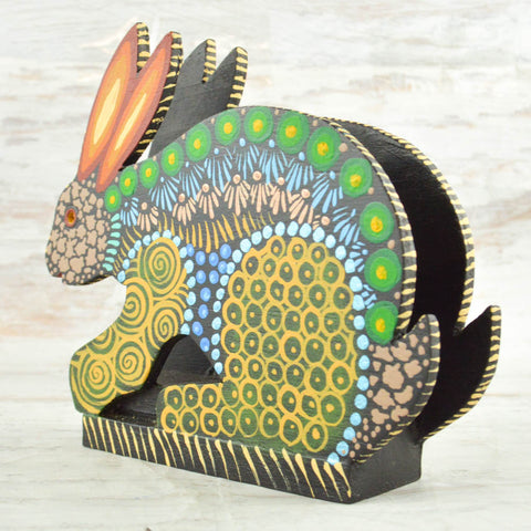 Rabbit Napkin Holder - Alebrije Huichol Mexican Folk art magiamexica.com