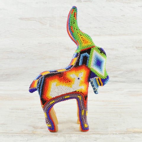 Image of Huichol Art Beaded Animals Goat - Magia Mexica