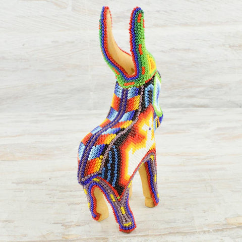 Huichol Art Beaded Animals Goat - Magia Mexica