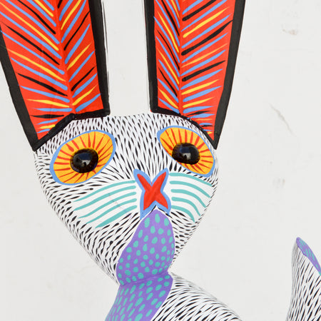 A1657 Rabbit Alebrije Oaxacan Wood Carving