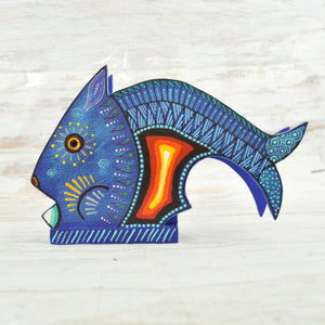 Fish Napkin Holder - Alebrije Huichol Mexican Folk art magiamexica.com