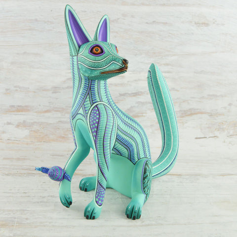 Image of Alebrije Oaxacan Wood Carving Fox - Magia Mexica