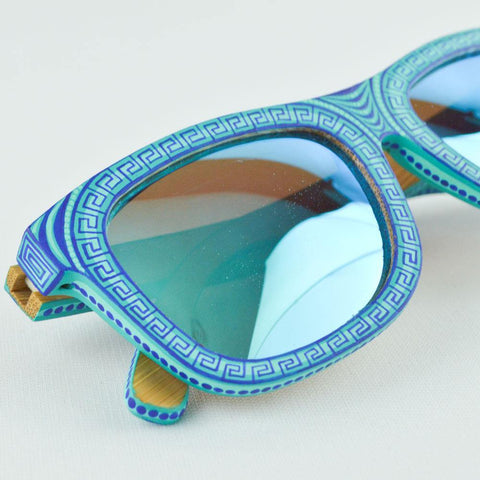 Image of Blue Sunglasses - Alebrije Huichol Mexican Folk art magiamexica.com