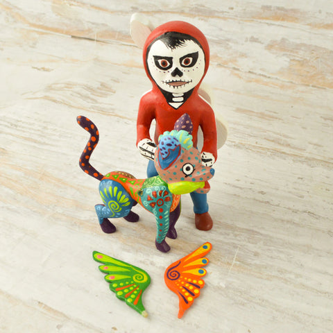Image of Alebrije Oaxacan Wood Carving Coco Set - Magia Mexica