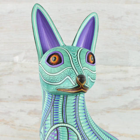 Alebrije Oaxacan Wood Carving Fox - Magia Mexica