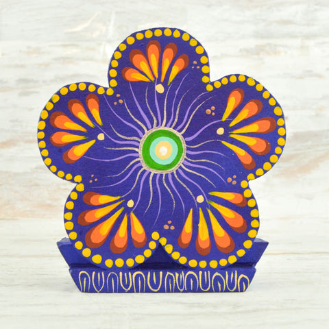 Image of Flower Napkin Holder - Alebrije Huichol Mexican Folk art magiamexica.com