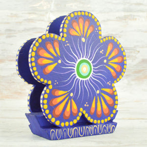 Flower Napkin Holder - Alebrije Huichol Mexican Folk art magiamexica.com