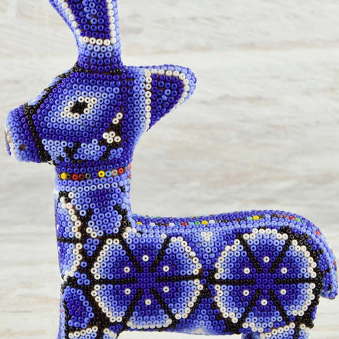 Huichol Art Beaded Animals Reindeer- Magia Mexica