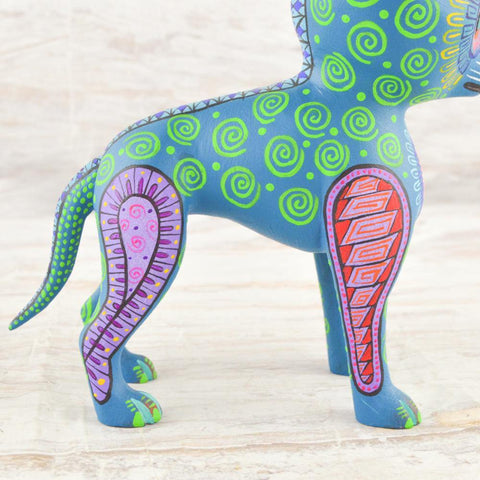 Image of Alebrije Oaxacan Wood Carving Chihuahua Dog - Magia Mexica