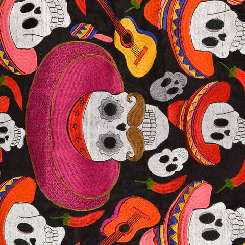 Image of Embroidered Pillow Cover | Black 2 - Magia Mexica