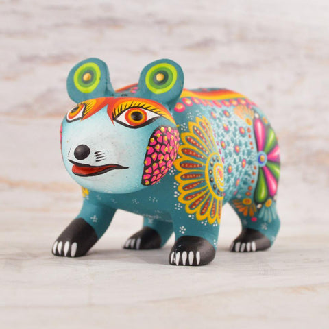 Alebrije Oaxacan Wood Carving Bear - Magia Mexica