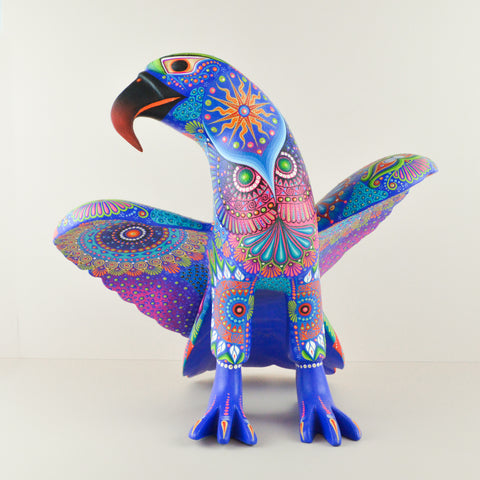 Alebrije Oaxacan Wood Carving Hummingbird - Magia Mexica