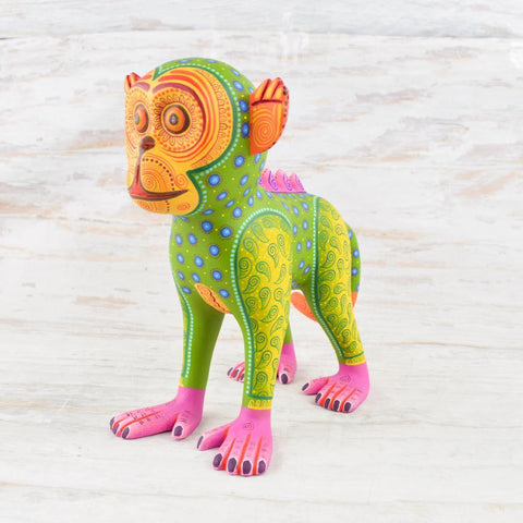 Image of Alebrije Oaxacan Wood Carving Monkey - Magia Mexica